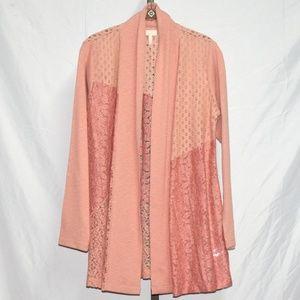 LOGO Lavish Novelty Lace Cardigan #1733